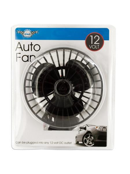 12 Volt Auto Fan with Suction Cup (Available in a pack of 1)
