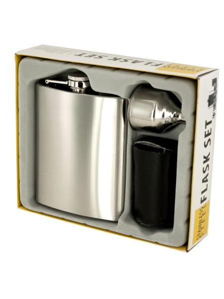 Stainless Steel Flask Set (Available in a pack of 1)
