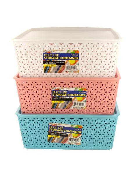 Multi-Use Home Storage Container with Lid (Available in a pack of 4)
