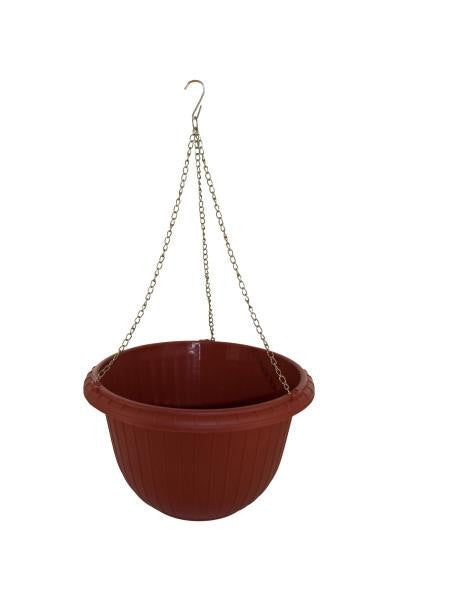 Hanging Flower Pot with Metal Link Chain (Available in a pack of 6)