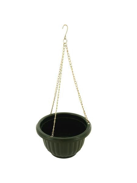 Small Hanging Flower Pot with Metal Link Chain (Available in a pack of 12)