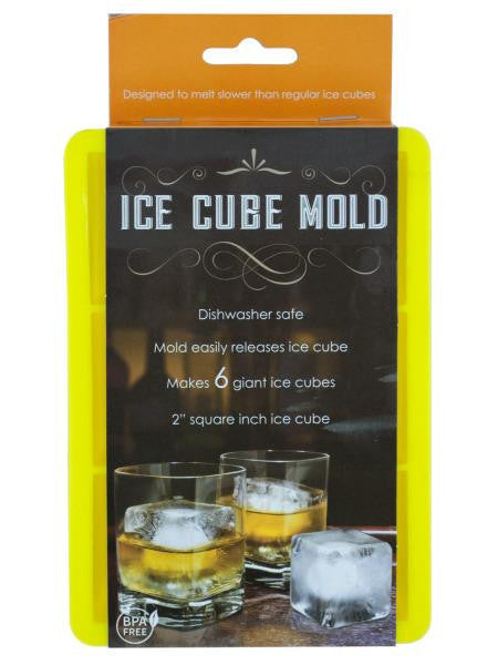 Large Silicone Ice Cube Mold (Available in a pack of 6)