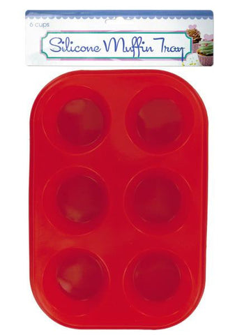 Silicone Muffin Tray (Available in a pack of 6)
