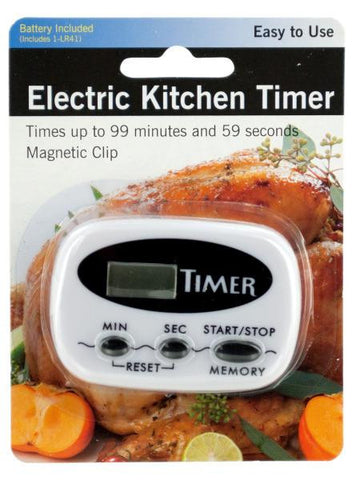 Electric Kitchen Timer with Magnetic Clip (Available in a pack of 4)