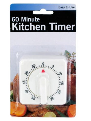 60 Minute Manual Dial Kitchen Timer (Available in a pack of 6)