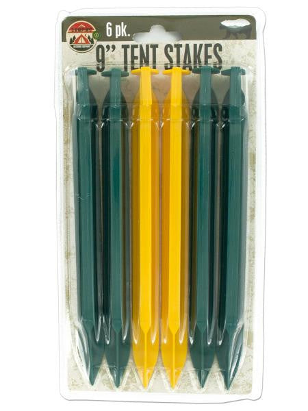 Plastic Tent Stakes Set (Available in a pack of 12)