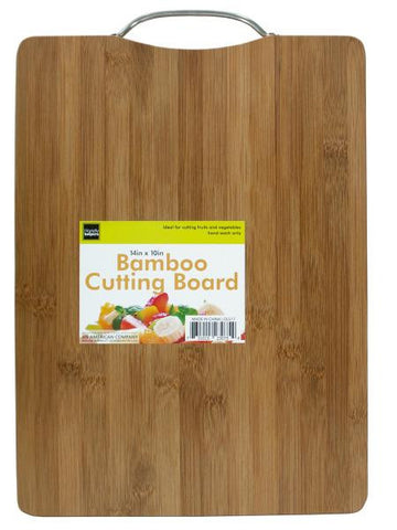 Bamboo Cutting Board with Metal Handle (Available in a pack of 1)