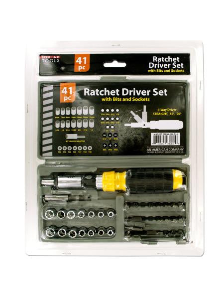 Ratchet Driver Set with Carrying Case (Available in a pack of 4)