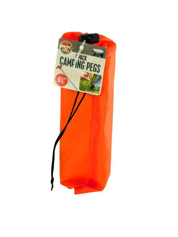Camping Pegs Set with Carrying Bag (Available in a pack of 12)