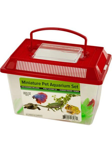 Miniature Pet Aquarium Set (Available in a pack of 4)