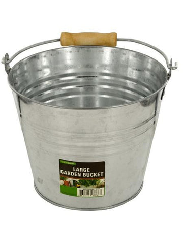 Large Metal Garden Bucket (Available in a pack of 4)