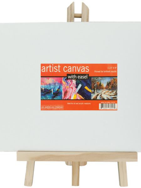 Small Artist Canvas with Wooden Easel Set (Available in a pack of 4)