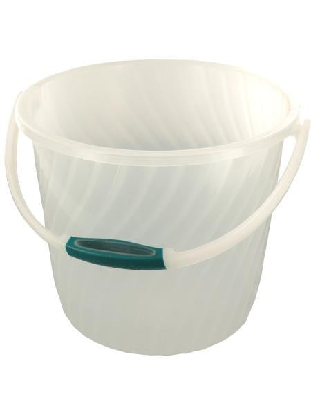 Plastic Bucket with Anti-Slip Swivel Handle (Available in a pack of 4)