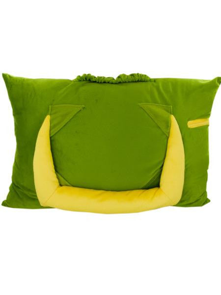 Green Plush Tablet Pillow (Available in a pack of 2)