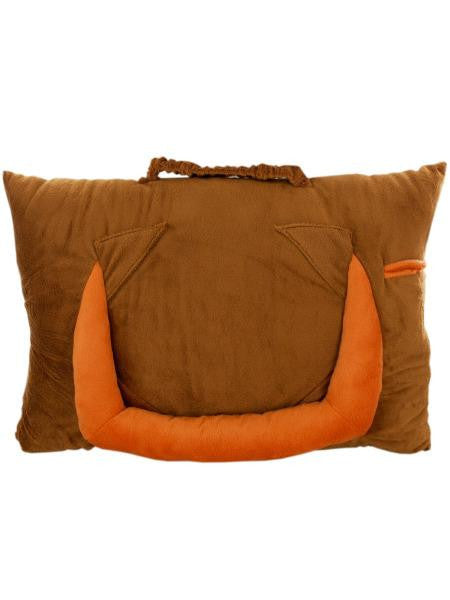 Brown Plush Tablet Pillow (Available in a pack of 1)