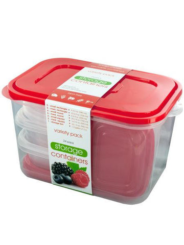 Food Storage Container Variety Set (Available in a pack of 1)