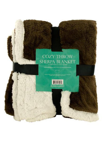 Cozy Coral Fleece & Heavy Sherpa Throw Blanket (Available in a pack of 1)