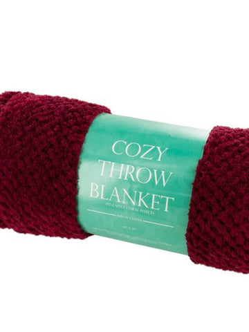 Cozy Textured Coral Fleece Throw Blanket (Available in a pack of 1)