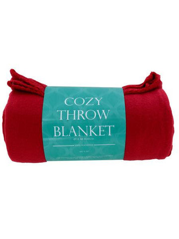 Cozy Polar Fleece Throw Blanket (Available in a pack of 4)