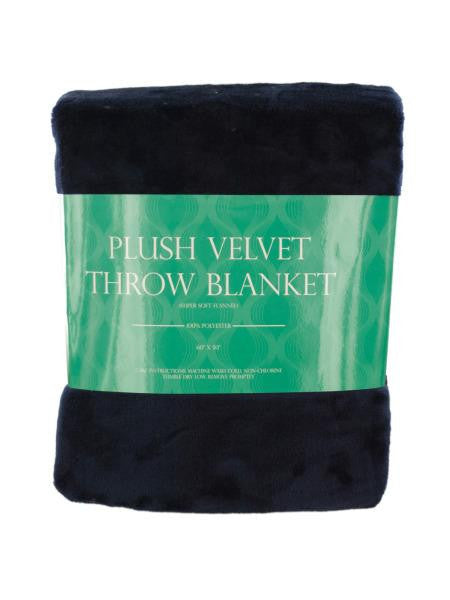 Super Soft Plush Velvet Fleece Throw Blanket (Available in a pack of 1)