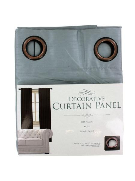 Decorative Faux Silk Curtain Panel (Available in a pack of 1)