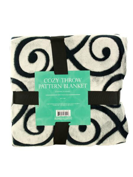 Cozy Cutting Flannel Fleece Throw Blanket (Available in a pack of 1)