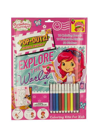 Strawberry Shortcake Pop-Out Coloring Kit (Available in a pack of 8)