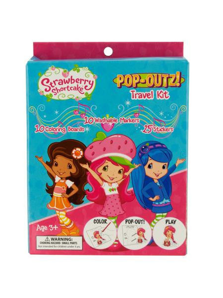 Strawberry Shortcake Pop-Out Travel Kit (Available in a pack of 12)