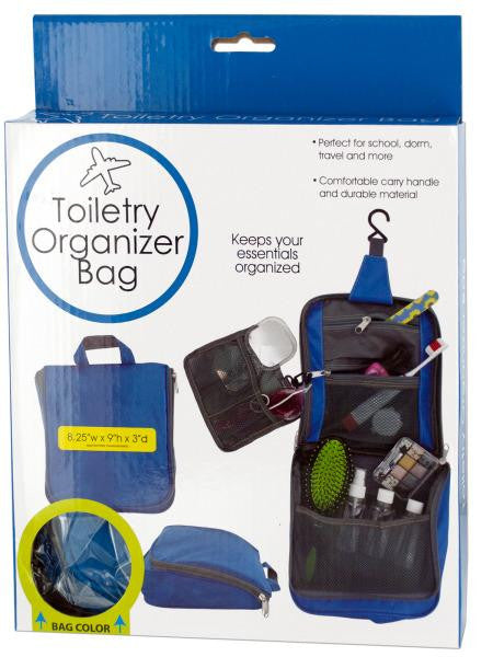 Water Resistant Travel Toiletry Organizer Bag (Available in a pack of 4)
