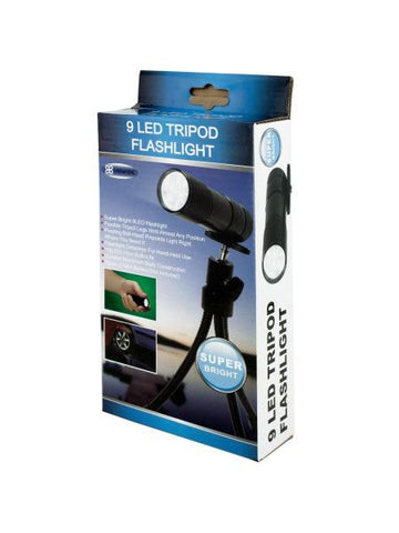 9 LED Tripod Flashlight (Available in a pack of 4)