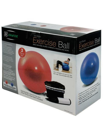 Exercise Ball with Pump Set (Available in a pack of 1)