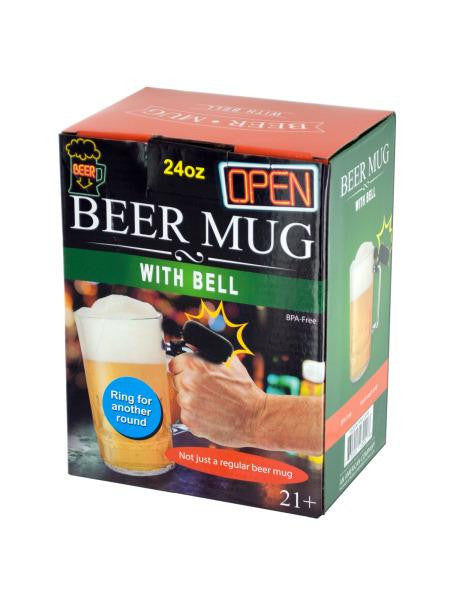 Novelty Beer Mug with Bell (Available in a pack of 4)