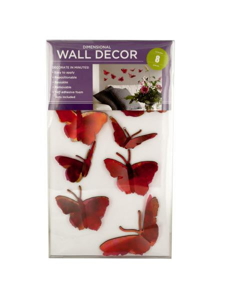 Flock of Butterflies Self-Adhesive Wall Decor (Available in a pack of 4)