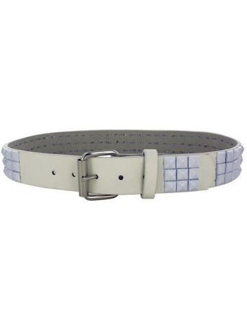 Large White Pyramid Studded Belt (Available in a pack of 8)