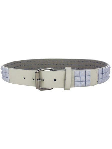 Medium White Pyramid Studded Belt (Available in a pack of 8)