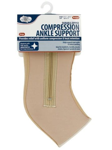 Medium Compression Ankle Support with Zipper (Available in a pack of 8)