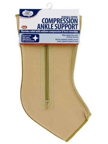 Large Compression Ankle Support with Zipper (Available in a pack of 8)