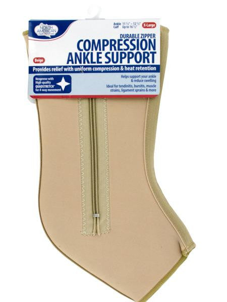 X-Large Compression Ankle Support with Zipper (Available in a pack of 8)