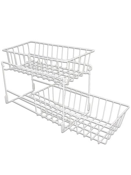 Bi-Level Sliding Drawer Organizer (Available in a pack of 4)