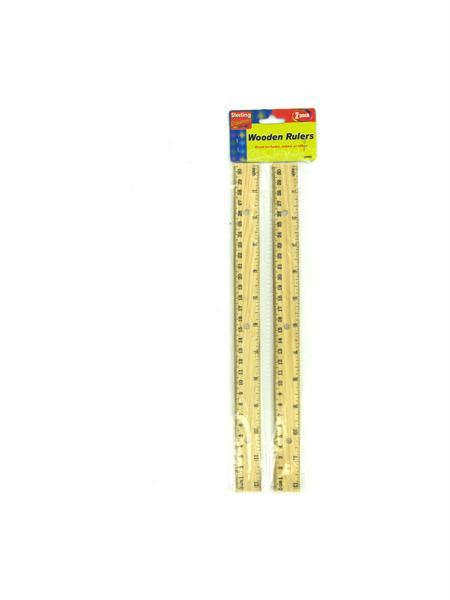Wooden Ruler Set (Available in a pack of 24)
