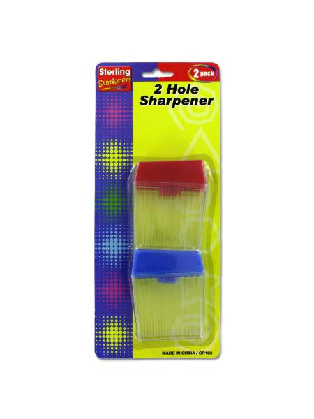 Two-Hole Pencil Sharpener Set (Available in a pack of 24)
