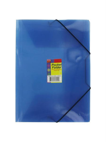 Plastic Pocket Folder (Available in a pack of 24)