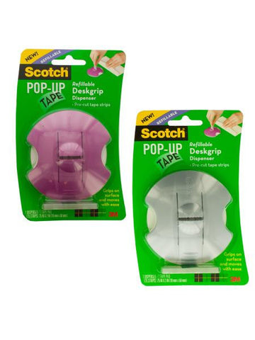 Scotch Pop-up Refillable Deskgrip Tape Dispenser (Available in a pack of 6)