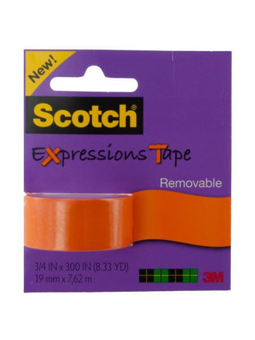 Scotch Expressions Removable Tape - Orange (Available in a pack of 12)