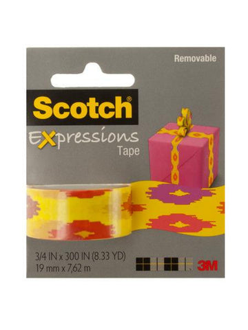 Scotch Expressions Removable Tape - Southwest Yellow (Available in a pack of 12)
