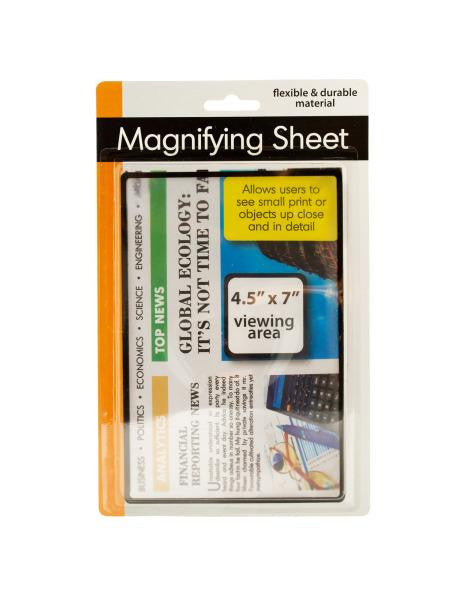 Magnifying Sheet (Available in a pack of 12)