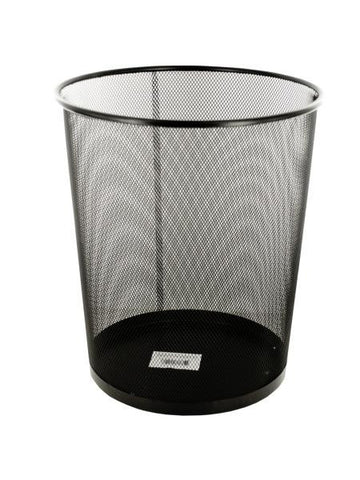 Black Metal Mesh Waste Container (Available in a pack of 4)