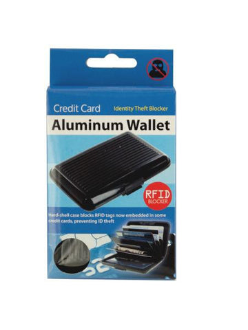Aluminum Credit Card Wallet (Available in a pack of 12)