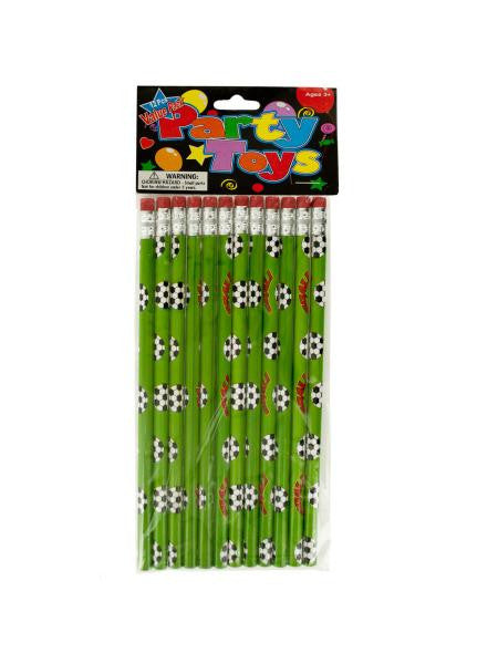 Soccer Balls Party Favor Pencils (Available in a pack of 24)