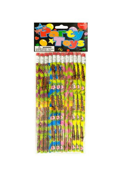 Island Tiki Party Favor Pencils (Available in a pack of 24)